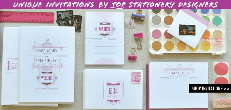Unique invitations from top Stationery Designers from Chromatic and Co.